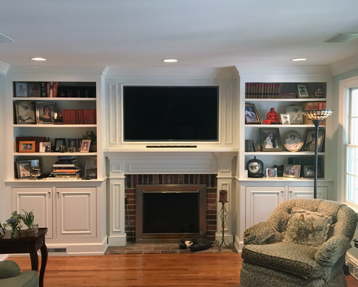 Fireplace Tv Bookshelf