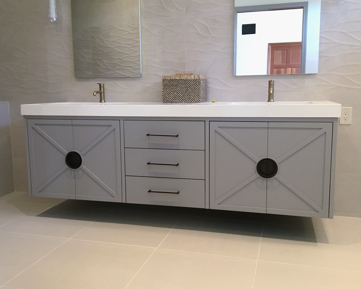Bath Vanity & Tub Surround
